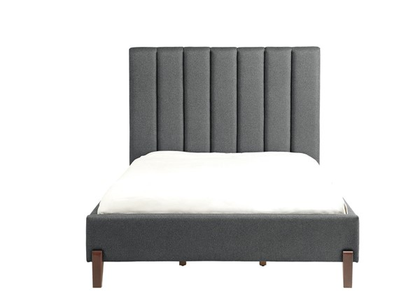 Home Elegance Forte Neutral Gray Queen Bed HE-5885-1