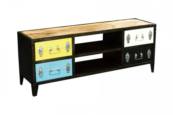 Amara Contemporary Metal Iron TV Cabinet HE-6491