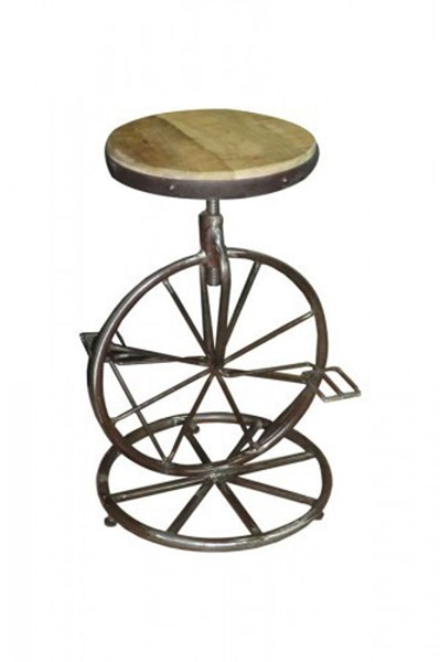2 Amara Contemporary Iron Counter Height Stools w/Adjustable Height HE-6494
