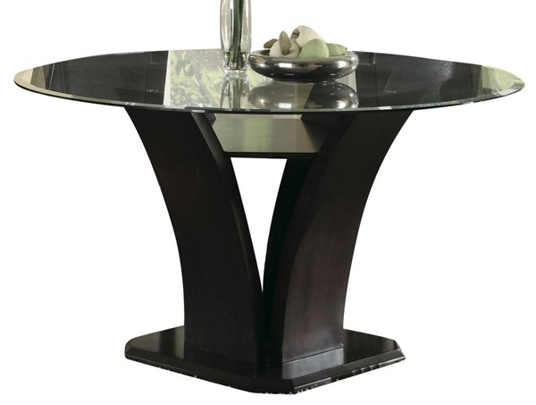 Home Elegance Daisy Round Glass Top Table HE-710-54