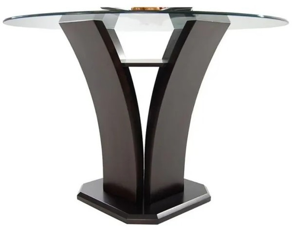 Home Elegance Daisy Round Counter Height Table with Glass Top HE-710-36RD