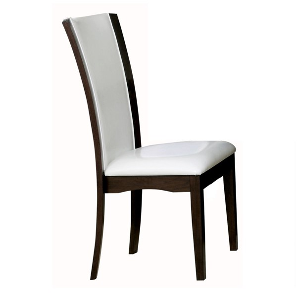2 Home Elegance Daisy White Side Chairs HE-710WS