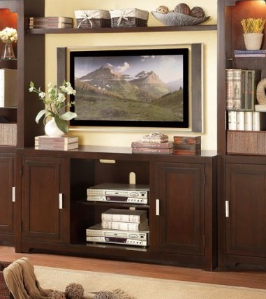 Capitola Transitional Warm Espresso Wood 54 Inch TV Stand HE-8001-T