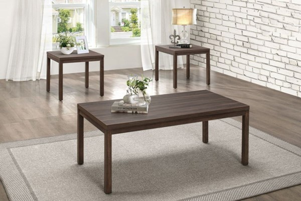 Turia Brown Wood Melamine Top 3 in 1 Pack Occasional Table HE-8007-31