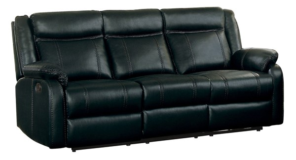 Home Elegance Jude Black Double Recliner Sofa HE-8201BLK-3