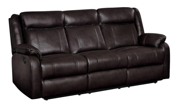 Home Elegance Jude Brown Double Recliner Sofa HE-8201BRW-3
