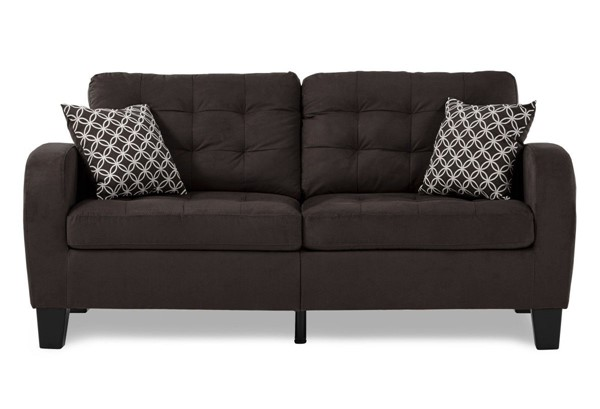 Home Elegance Sinclair Chocolate Sofa HE-8202CH-3