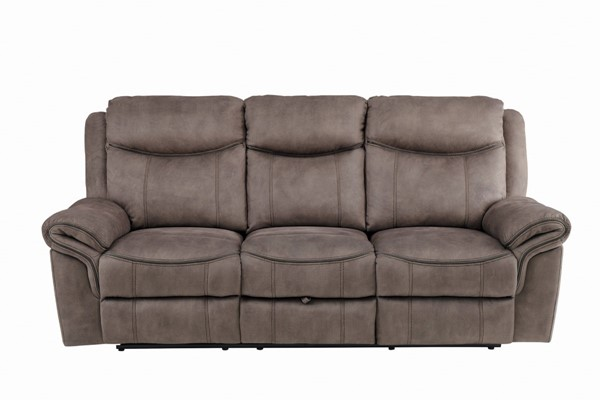 Home Elegance Aram Brown Double Recliner Sofa HE-8206NF-3