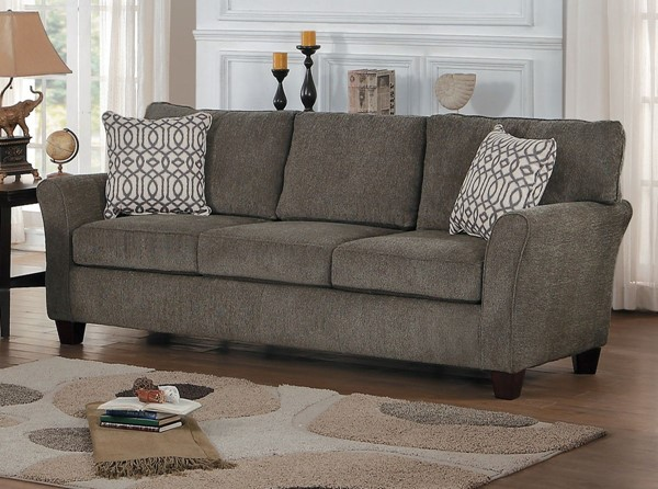 Home Elegance Alain Brownish Gray Sofas HE-8225-SF-VAR