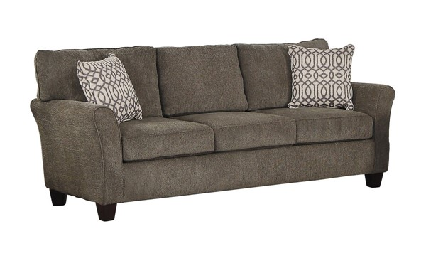 Home Elegance Alain Brownish Gray Sofa with Two Pillows HE-8225-3