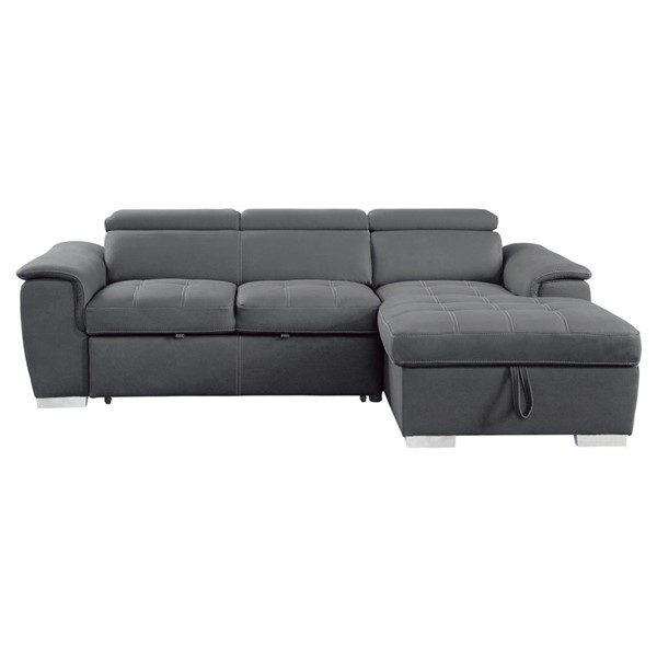 Home Elegance Ferriday Gray 2pc Sectional Set HE-8228GY
