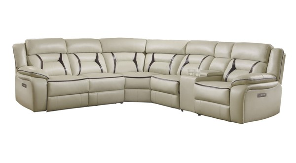 Home Elegance Amite Beige 6pc Sectional HE-8229-6PW