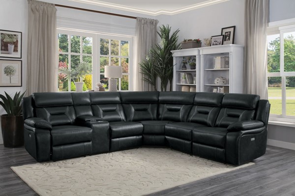 Home Elegance Amite Dark Gray 6pc Sectional HE-8229DG-6PW
