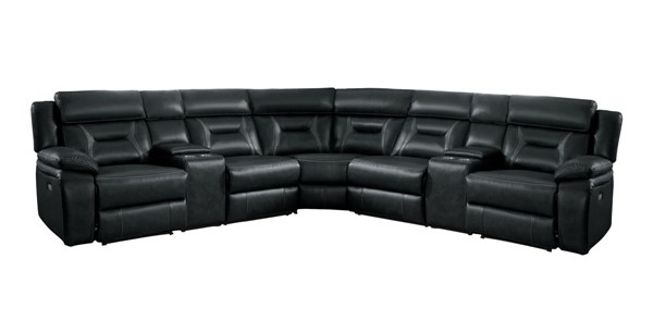Home Elegance Amite Dark Gray 7pc Sectional HE-8229DG-7PW