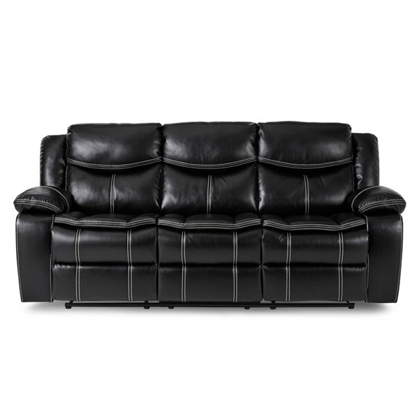 Home Elegance Bastrop Black Brown Recliner Sofas HE-8230-SF-VAR