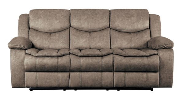 Home Elegance Bastrop Gray Double Reclining Sofa HE-8230FBR-3