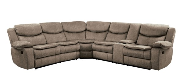Home Elegance Bastrop Gray 3pc Sectional HE-8230FBR-SEC