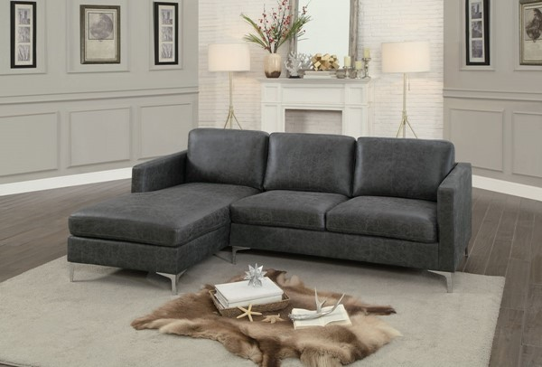 Home Elegance Breaux Gray Sesame Sectionals HE-8235-SEC-VAR