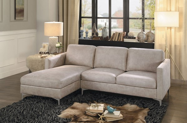 Home Elegance Breaux Sesame 2pc Sectional HE-8235SS-SC