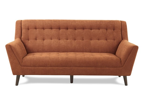 Home Elegance Erath Orange Sofa HE-8244RN-3