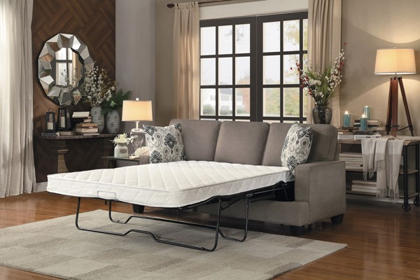 Home Elegance Kenner Brown Gray Sofas with Sleeper HE-8245-SFSL-VAR