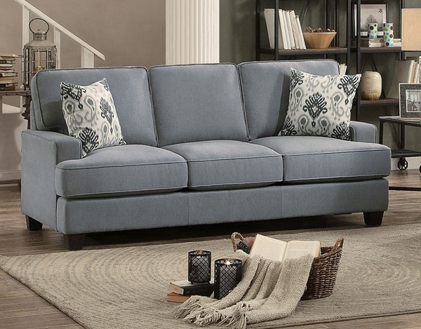 Home Elegance Kenner Gray Sofa HE-8245GY-3