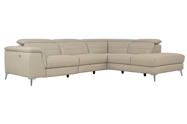 Home Elegance Cinque Taupe 2pc Sectional HE-8256