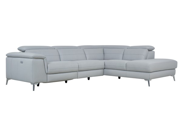 Home Elegance Cinque Light Gray 2pc Sectional HE-8256GY