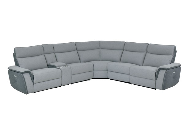 Home Elegance Maroni Gray 6pc Sectional HE-8259-6SCPWH