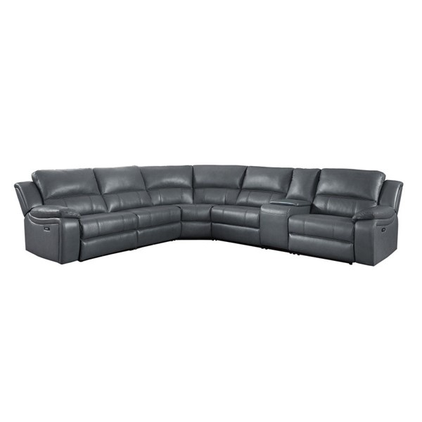 Home Elegance Falun Gray 6pc Sectional HE-8260GY-6PW