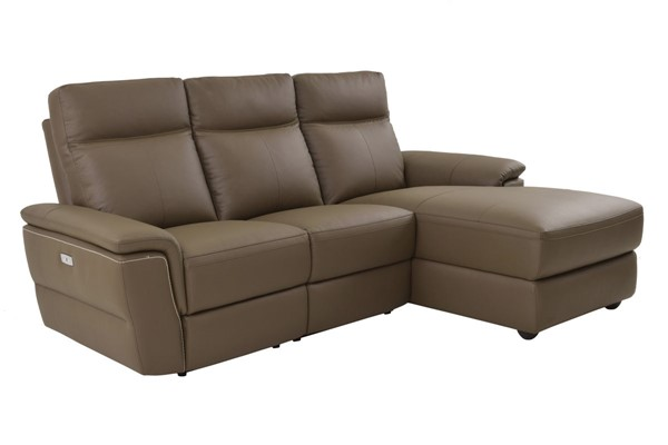 Home Elegance Olympia Raisin LAF 3pc Sectional HE-8308-3LC5R
