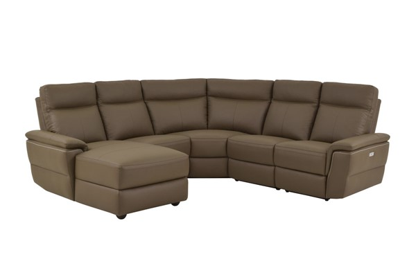 Home Elegance Olympia Raisin LAF 5pc Power Sectional HE-8308-5A1PW