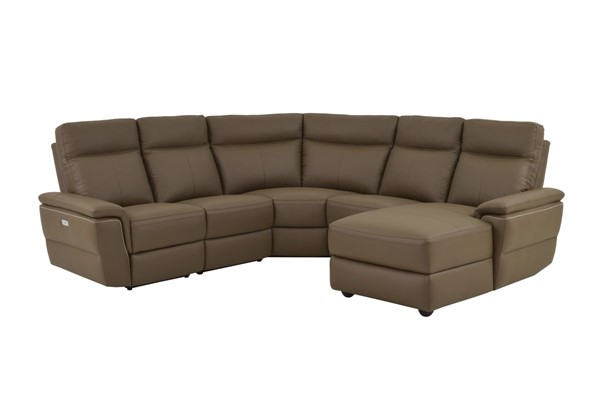 Home Elegance Olympia Raisin RAF 5pc Power Sectional HE-8308-5B1PW