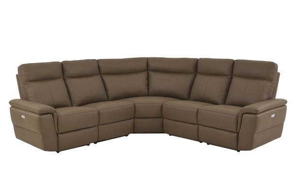 Home Elegance Olympia Raisin 5pc Power Sectional HE-8308-5C1PW