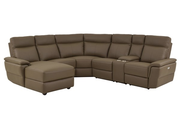 Home Elegance Olympia Raisin LAF 6pc Sectional HE-8308-6A