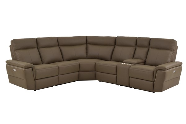 Home Elegance Olympia Raisin 6pc Power Sectional HE-8308-6C1PW