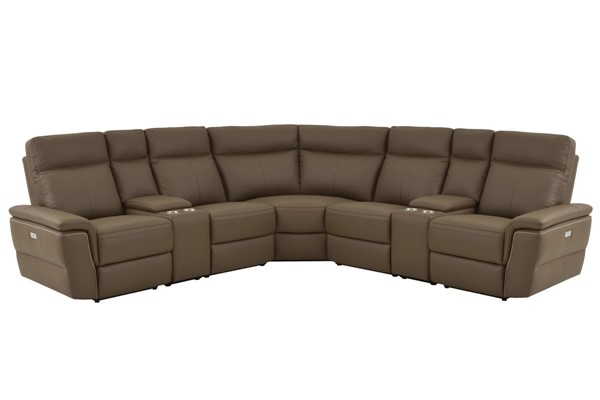 Home Elegance Olympia Raisin 7pc Power Sectional HE-8308-7C1PW