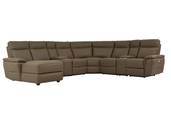 Home Elegance Olympia Raisin 8pc Sectional HE-8308-8A