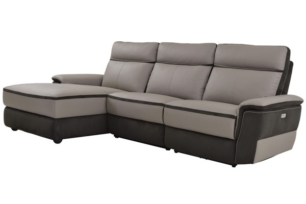 Home Elegance Laertes Taupe Gray LAF 3pc Sectional HE-8318-35LRR