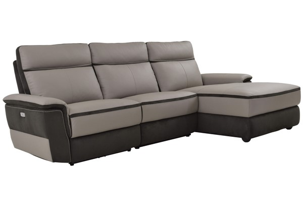 Home Elegance Laertes Taupe Gray RAF 3pc Sectional HE-8318-3LR5R