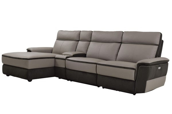 Home Elegance Laertes Taupe Gray LAF 4pc Sectional HE-8318-45LRR