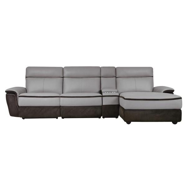 Home Elegance Laertes Taupe Gray RAF 4pc Sectional HE-8318-4LR5R
