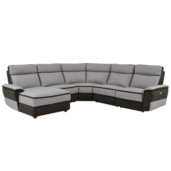 Home Elegance Laertes Taupe Gray LAF 5pc Power Sectional HE-8318-5A1PW