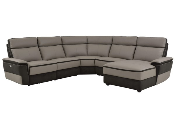 Home Elegance Laertes Taupe Gray RAF 5pc Power Sectional HE-8318-5B1PW