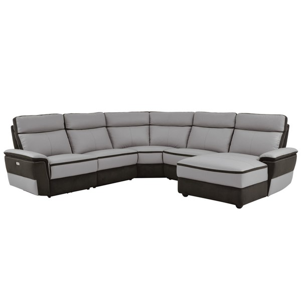 Home Elegance Laertes Taupe Gray RAF 5pc Sectional HE-8318-5B