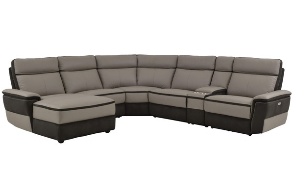 Home Elegance Laertes Taupe Gray LAF 6pc Sectional HE-8318-6A