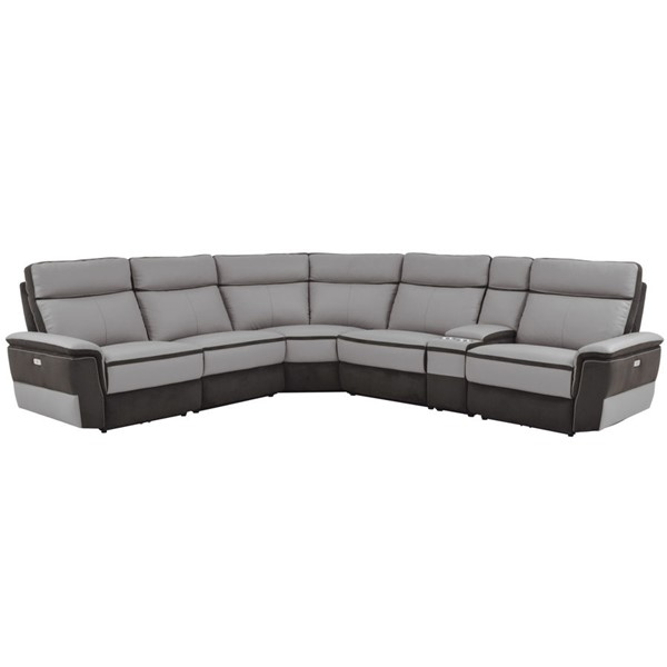 Home Elegance Laertes Taupe Gray 6pc Power Sectional HE-8318-6C1PW