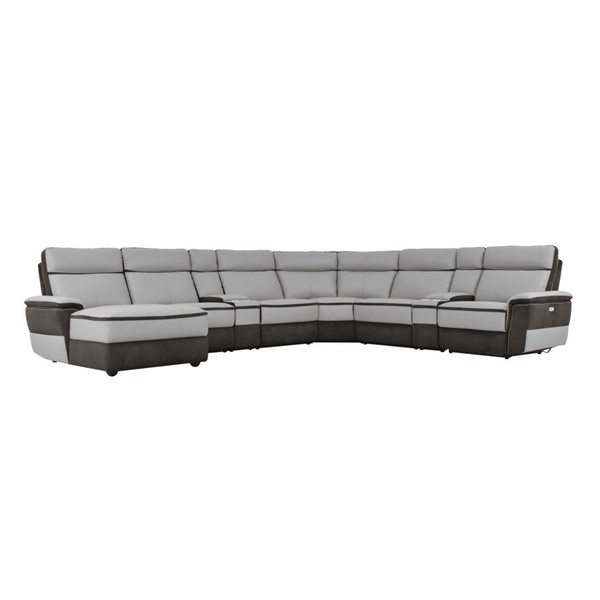 Home Elegance Laertes Taupe Gray 8pc Power Sectional HE-8318-8A1PW