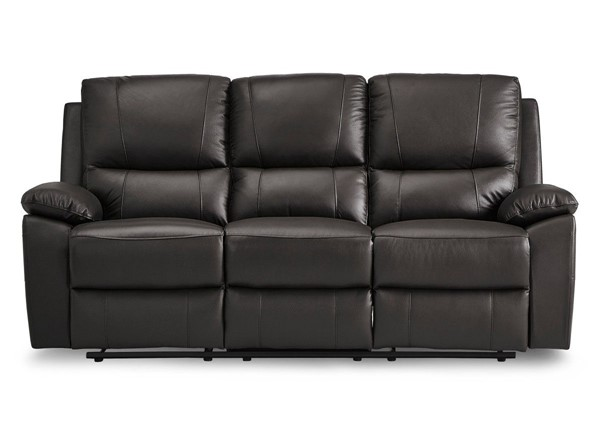 Home Elegance Greeley Brown Double Reclining Sofa HE-8325BRW-3