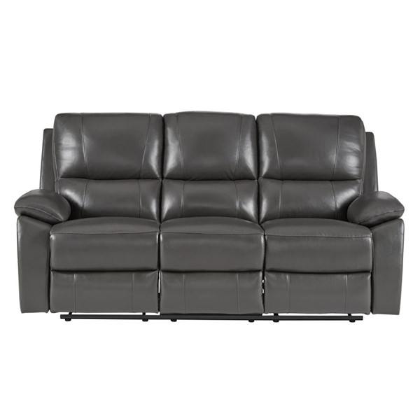 Home Elegance Greeley Gray Double Reclining Sofa HE-8325GRY-3